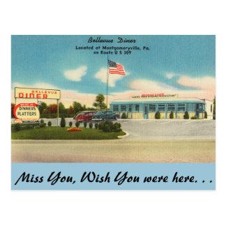 Pennsylvania, Bellevue Diner, Montgomeryville Postcard