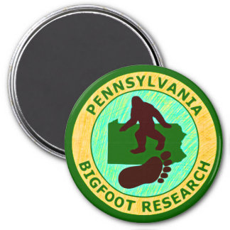 Pennsylvania Bigfoot Research 3 Inch Round Magnet