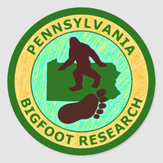 Pennsylvania Bigfoot Research Classic Round Sticker