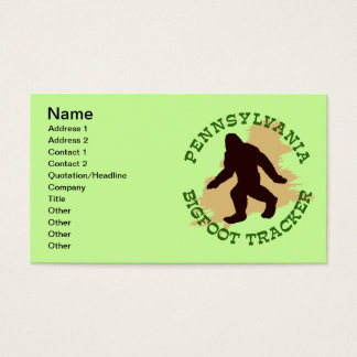 Pennsylvania Bigfoot Tracker Business Card