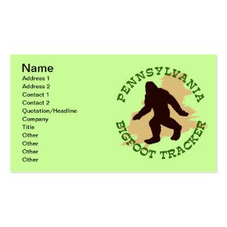 Pennsylvania Bigfoot Tracker Business Card Templates