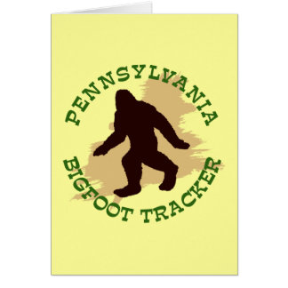 Pennsylvania Bigfoot Tracker Card