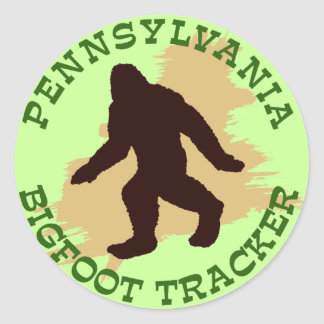 Pennsylvania Bigfoot Tracker Classic Round Sticker