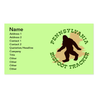 Pennsylvania Bigfoot Tracker Double-Sided Standard Business Cards (Pack Of 100)