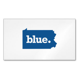PENNSYLVANIA BLUE STATE MAGNETIC BUSINESS CARD