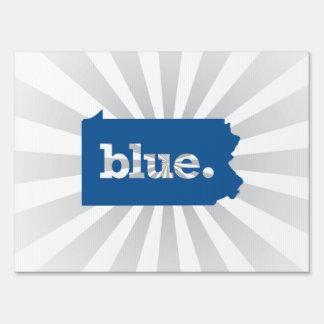 PENNSYLVANIA BLUE STATE YARD SIGN