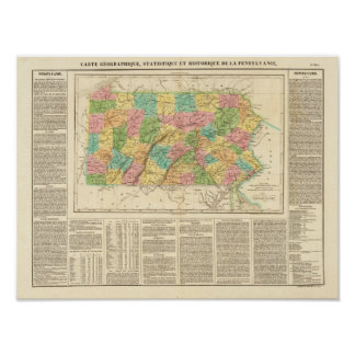 Pennsylvania Buchon, Jean 1825 Reproduction Posters