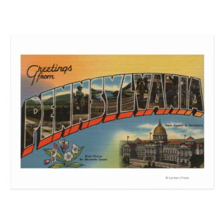 Pennsylvania (Capital del Estado/flor) Tarjetas Postales
