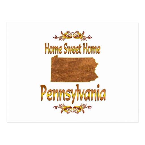 Pennsylvania casera dulce casera postales