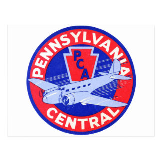 Pennsylvania Central Airlines Postcard