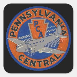 PENNSYLVANIA CENTRAL AIRWAYS. SQUARE STICKERS