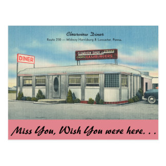 Pennsylvania, Clearview Diner Postcard