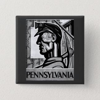 Pennsylvania Coal Poster 1938 Button