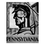 Pennsylvania Coal Poster WPA 1938