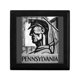 Pennsylvania Coal Poster WPA 1938 Gift Box