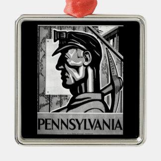 Pennsylvania Coal Poster WPA 1938 Metal Ornament