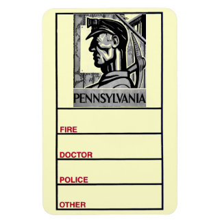 Pennsylvania Coal Poster WPA 1938 Photo Magnet