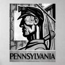 Pennsylvania coal Poster WPA 1938 Poster