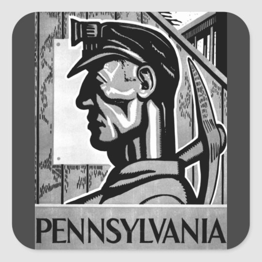 Pennsylvania Coal Poster WPA 1938 Sticker
