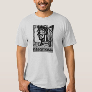 Pennsylvania Coal Poster WPA 1938 Tee Shirt