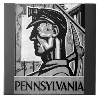 Pennsylvania Coal Poster WPA 1938 Tile