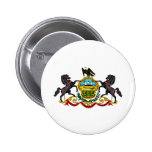 Pennsylvania coat of arms pinback buttons