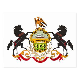 Pennsylvania Coat of Arms Postcard