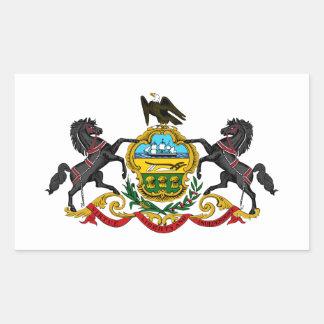 Pennsylvania coat of arms rectangular sticker