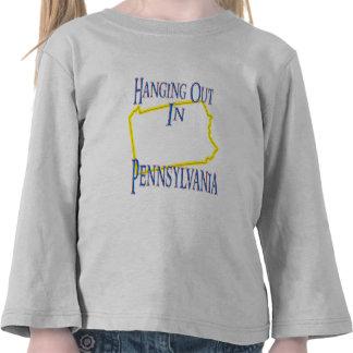 Pennsylvania - colgando hacia fuera camiseta