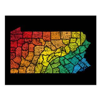 pennsylvania color counties postcard