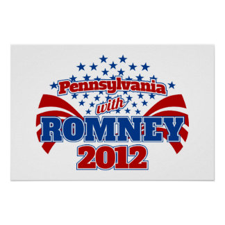 Pennsylvania con Romney 2012 Poster