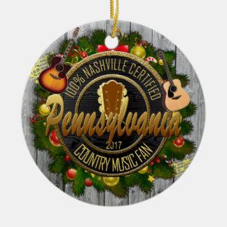 Pennsylvania Country Music Fan Christmas Ornament