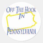 Pennsylvania - del gancho pegatina redonda