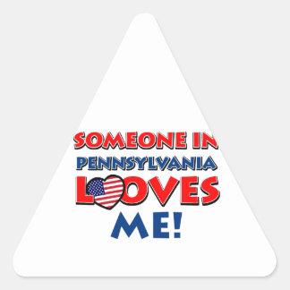 Pennsylvania design triangle sticker