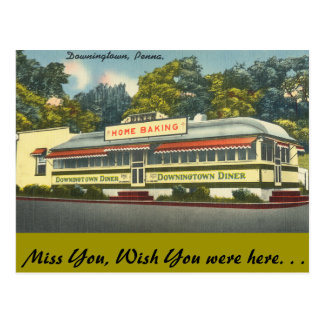 Pennsylvania, Downingtown Diner, Downingtown Post Card