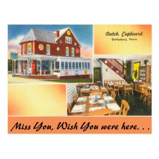 Pennsylvania, Dutch Cupboard, Gettysburg Postcard