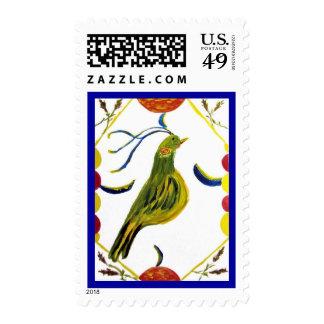 Pennsylvania Dutch Hex Friendship, Abundance Posta Stamp