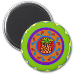 Pennsylvania Dutch Hex Sign Welcome 2 Inch Round Magnet
