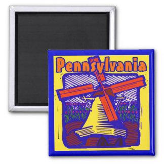 Pennsylvania Dutch 2 Inch Square Magnet