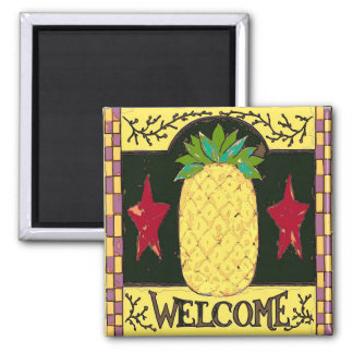 Pennsylvania Dutch Pineapple Welcome Magnet