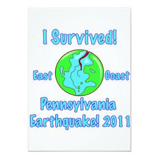 Pennsylvania, East Coast Earthquake of 2011 Card