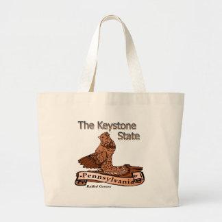 Pennsylvania el pájaro de estado trapezoidal bolsa lienzo
