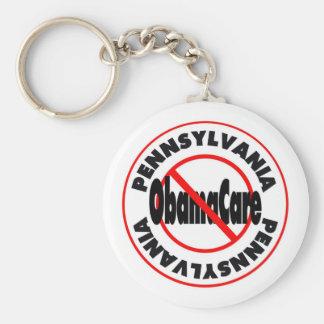 ¡Pennsylvania el venir anti de ObamaCare - de Llavero Redondo Tipo Pin