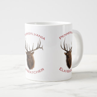 Pennsylvania Elk-Watcher 20 Oz Large Ceramic Coffee Mug
