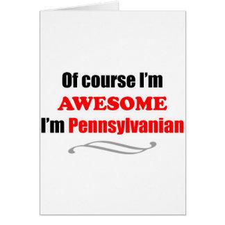 Pennsylvania es impresionante tarjeta de felicitación