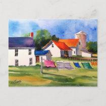 Pennsylvania Farm & Washline Postcard