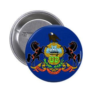 Pennsylvania Flag 2 Inch Round Button