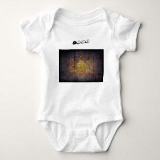 Pennsylvania flag baby bodysuit