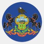 Pennsylvania Flag Classic Round Sticker