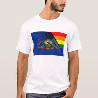 Pennsylvania Flag Gay Pride Rainbow T-Shirt